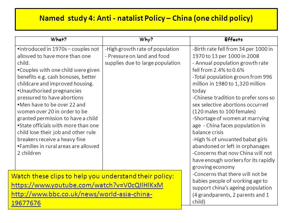benefits of the one child policy