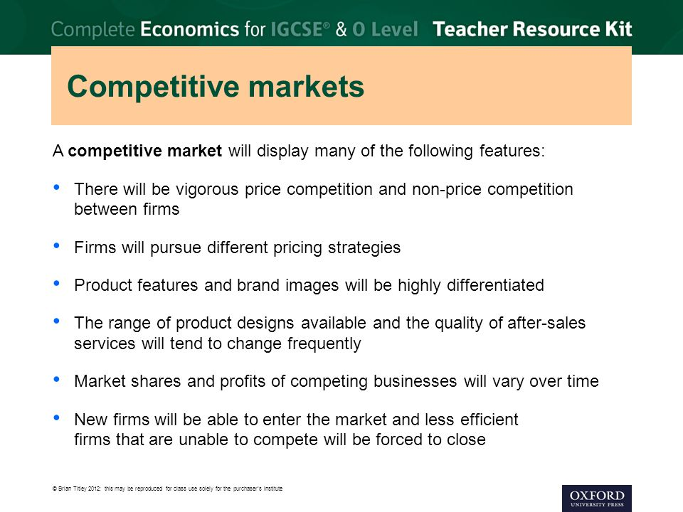 competitive market economics