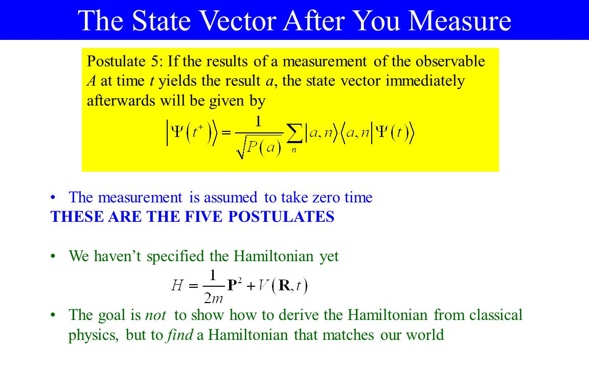 The State Vector After You Measure