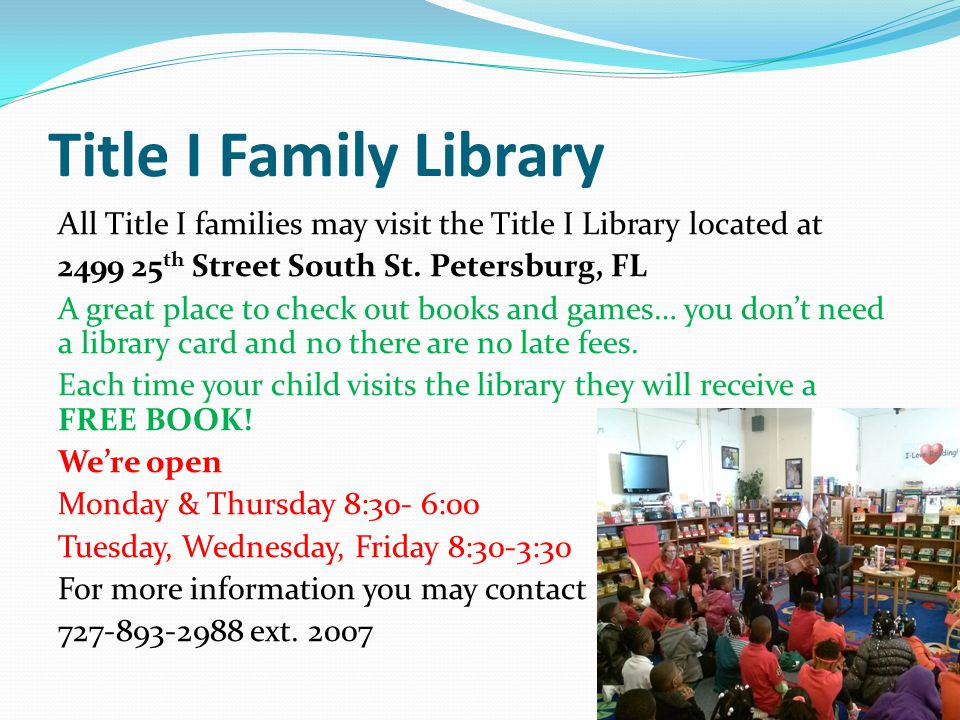 Title I Family Library