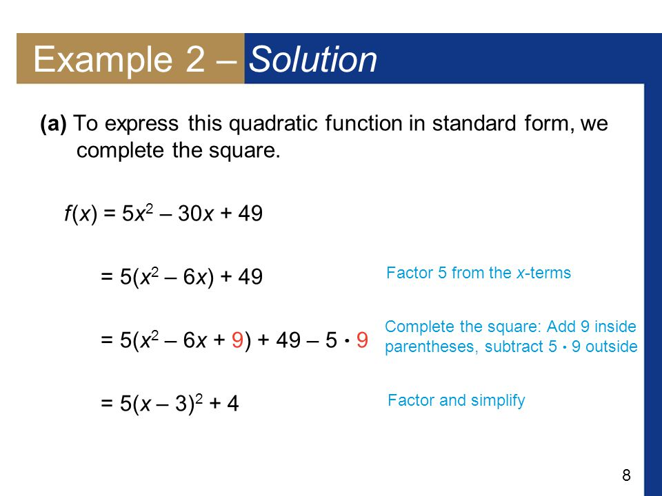 Quadratic Functions And Models Ppt Download