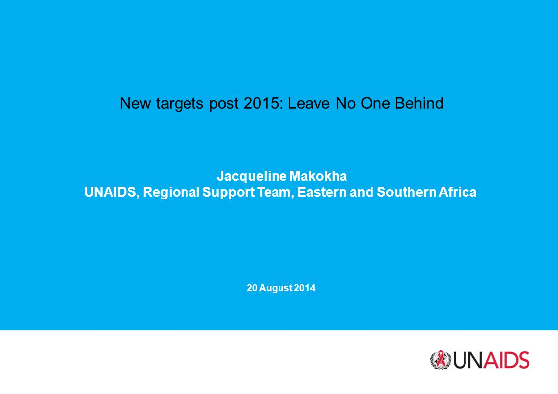 UNAIDS, Regional Support Team, Eastern and Southern Africa