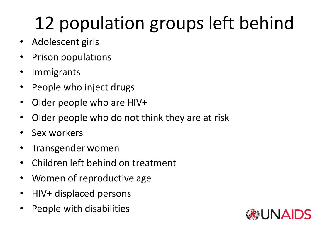 12 population groups left behind