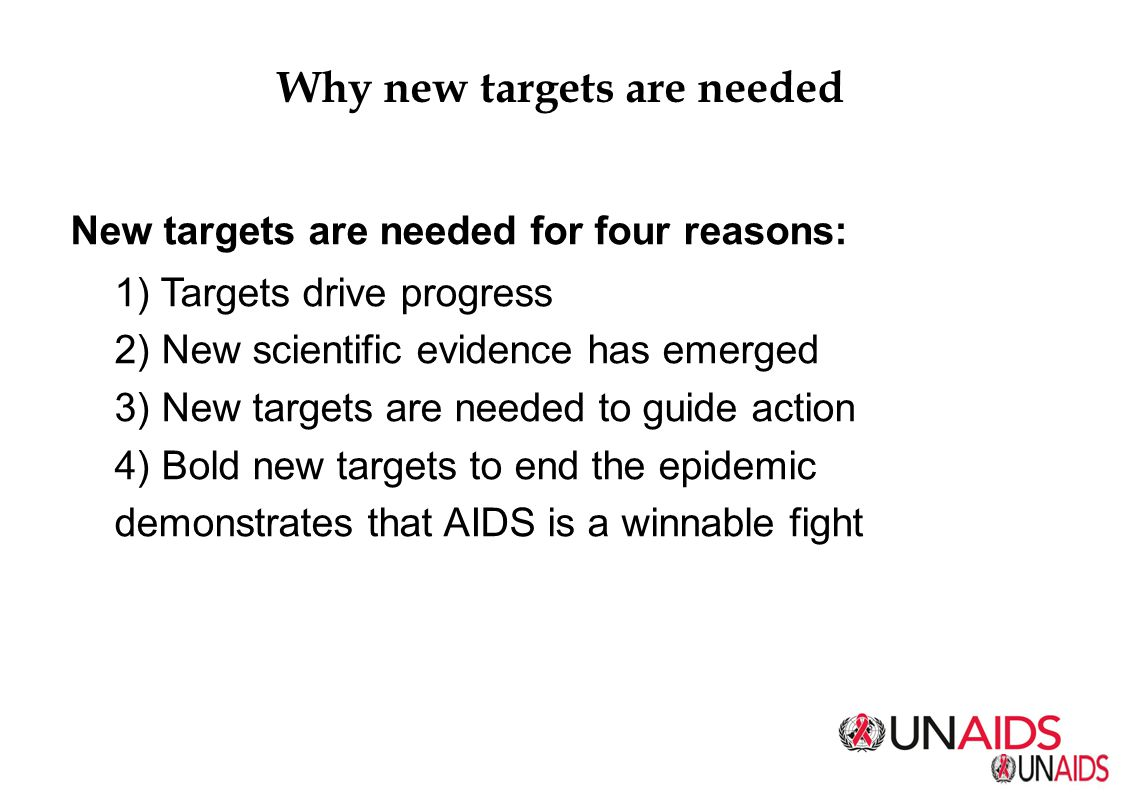 Why new targets are needed