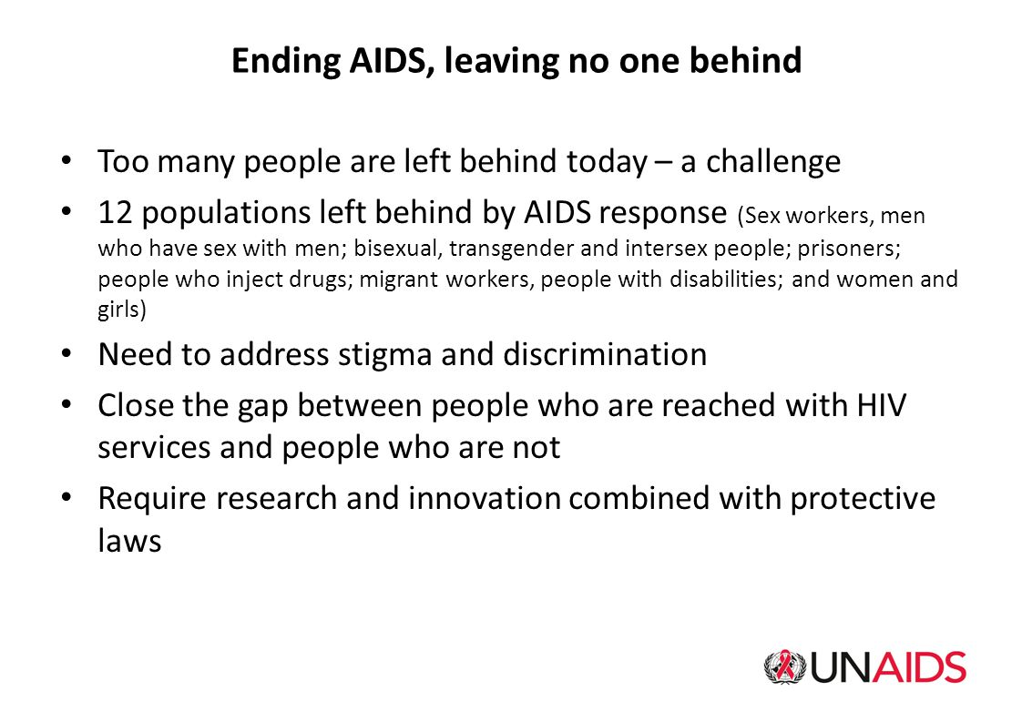 Ending AIDS, leaving no one behind