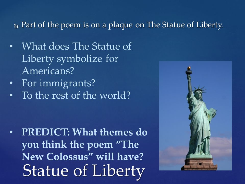 Yesterday You Completed The Statue Of Liberty Non Fictional
