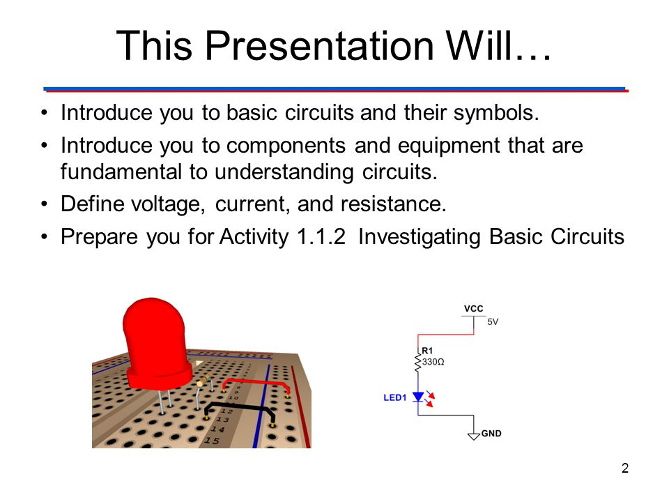 Investigating Basic Circuits Pre Activity Discussion Ppt