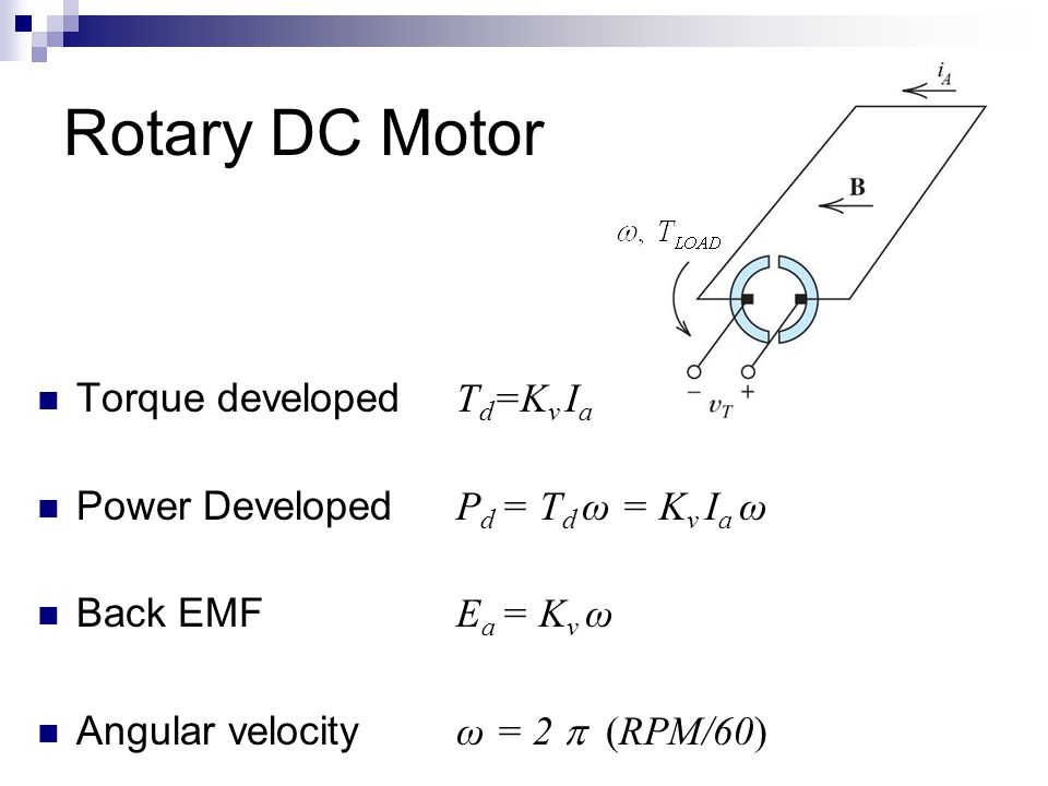 Lecture 32 DC Motors Part II - ppt download