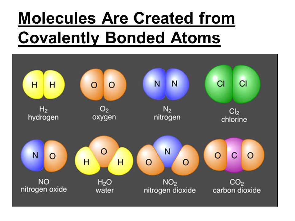 Molecules Are Created from Covalently Bonded Atoms