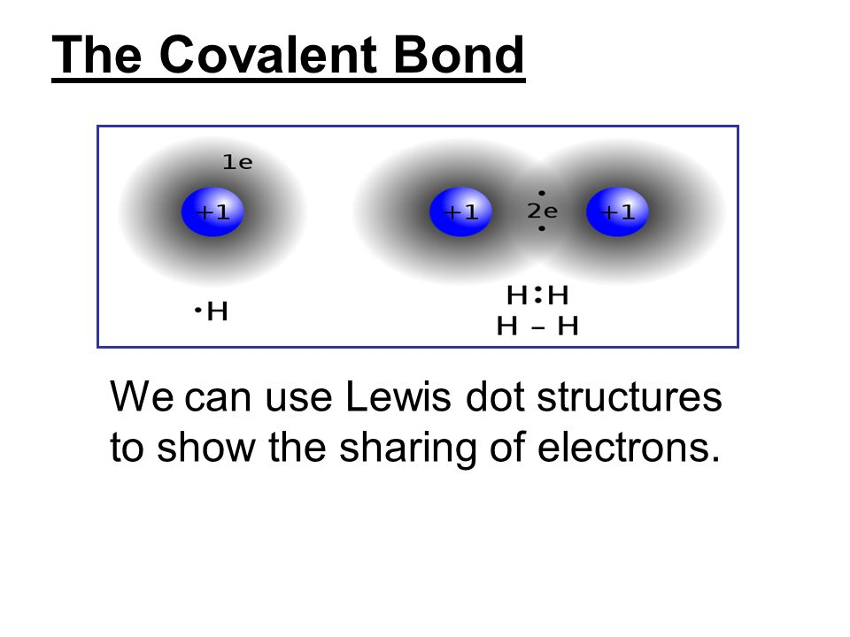 The Covalent Bond We can use Lewis dot structures