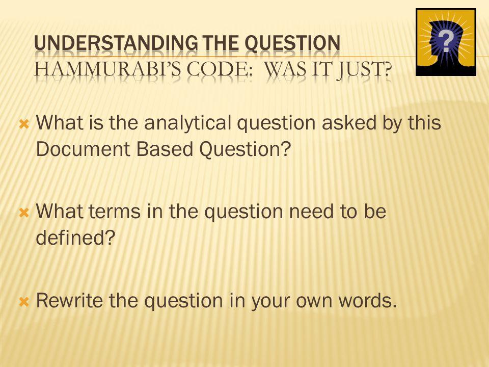 in general terms what is hammurabis code
