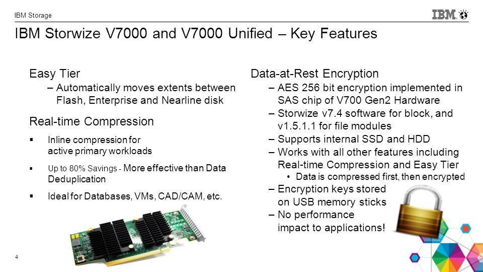 IBM Storwize V7000 and V7000 Unified – Key Features