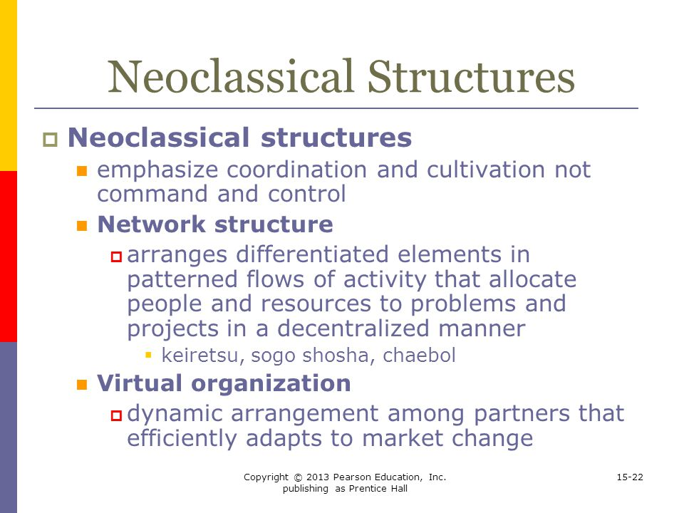 Neoclassical Structures