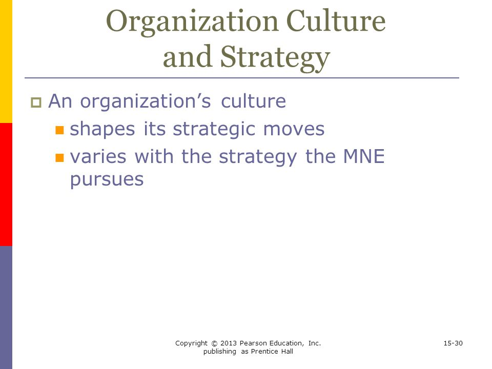 Organization Culture and Strategy