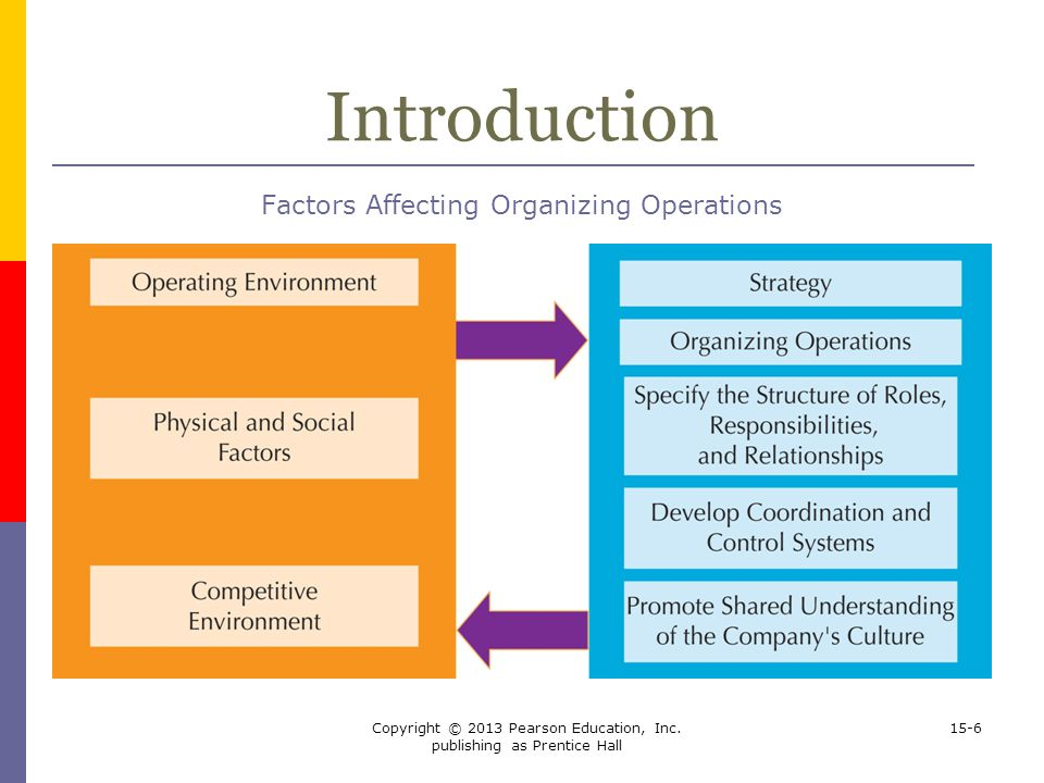 Introduction Factors Affecting Organizing Operations