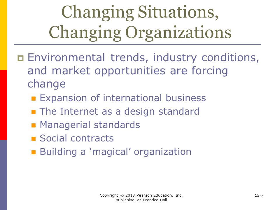Changing Situations, Changing Organizations