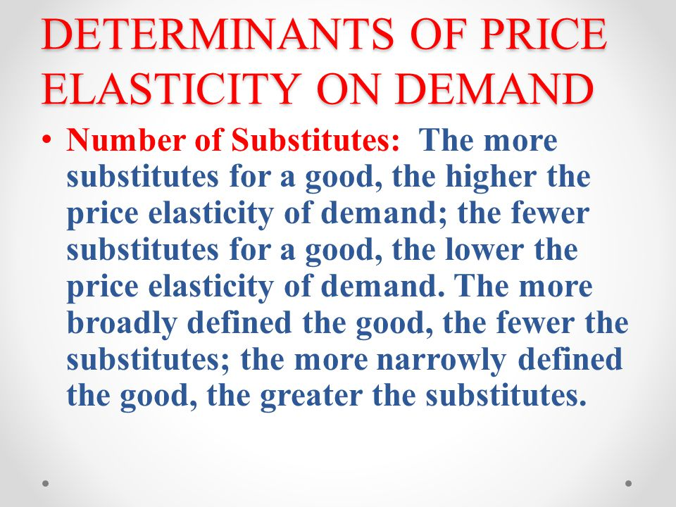 demand and elasticity of demand pdf