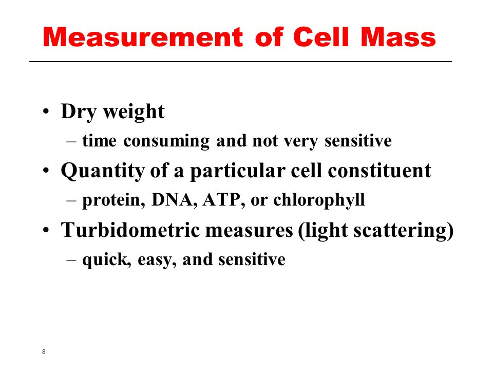 Measurement of Cell Mass