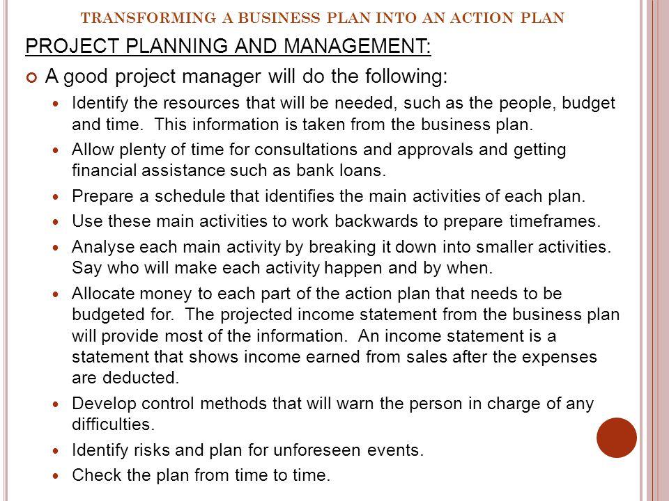 project management business plan