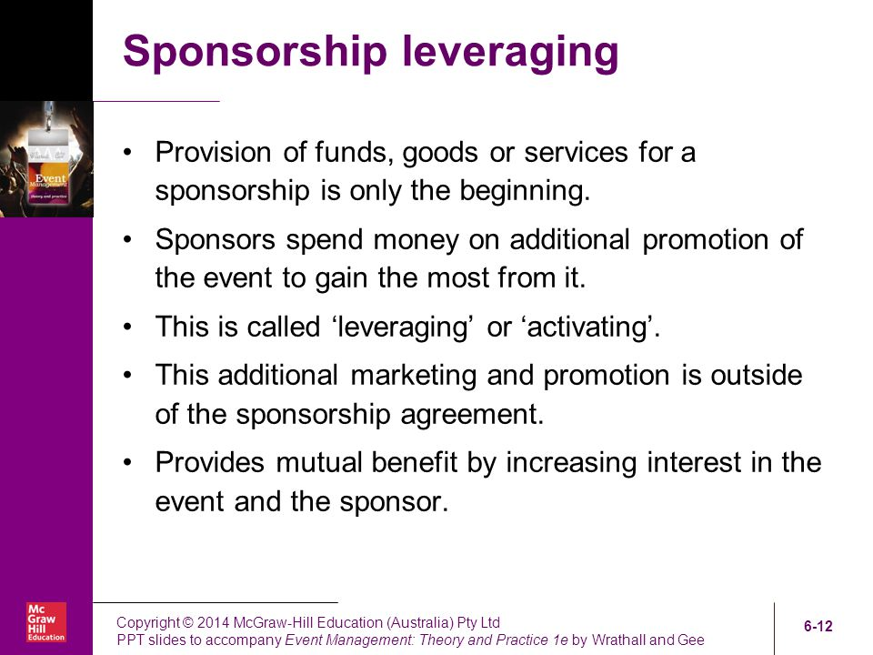 Chapter Six Event Sponsorship Ppt Video Online Download