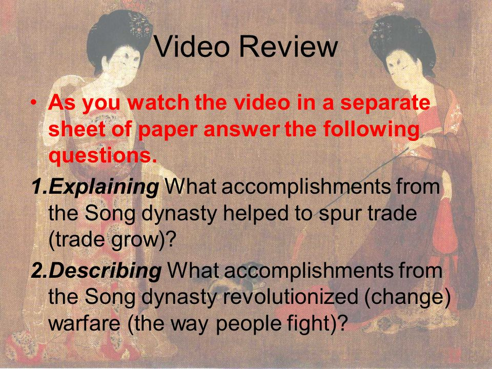 Video Review As you watch the video in a separate sheet of paper answer the following questions.