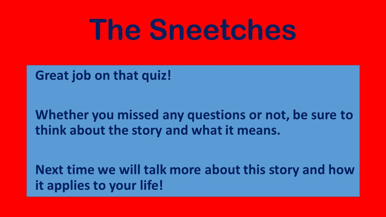 The Sneetches  - ppt download