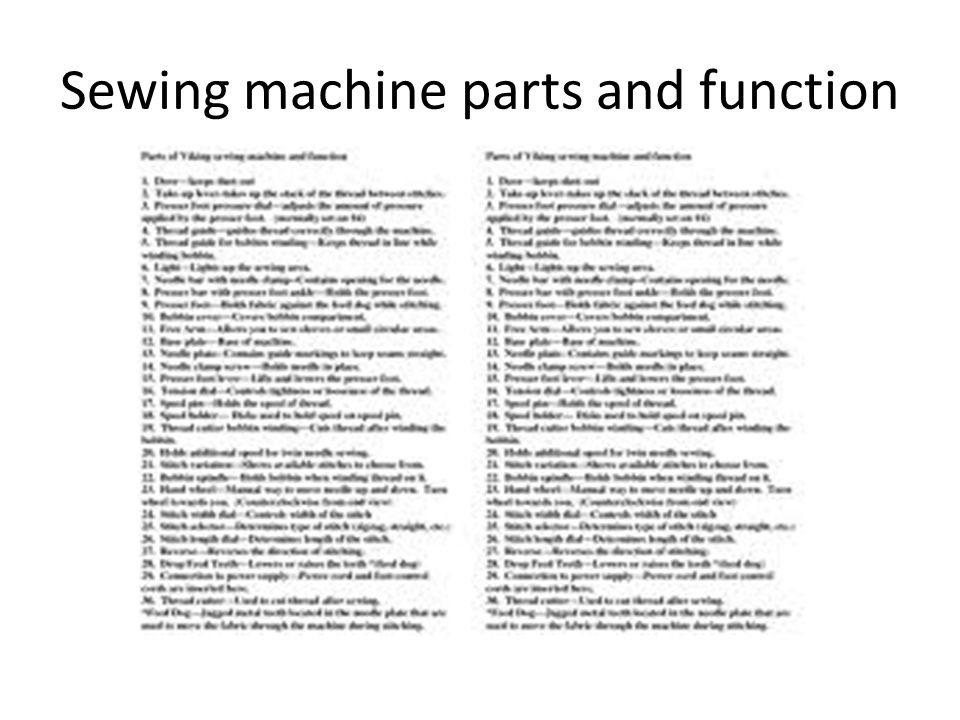 The Sewing Machine Ppt Video Online Download Inspiration Lower Parts Of Sewing Machine And Their Functions