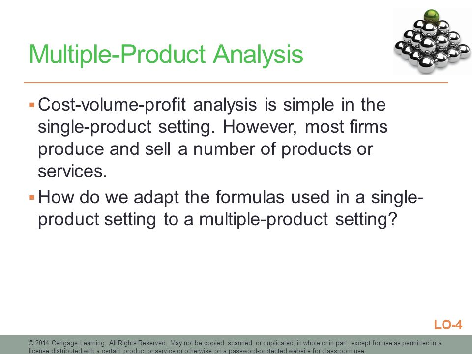 Multiple-Product Analysis