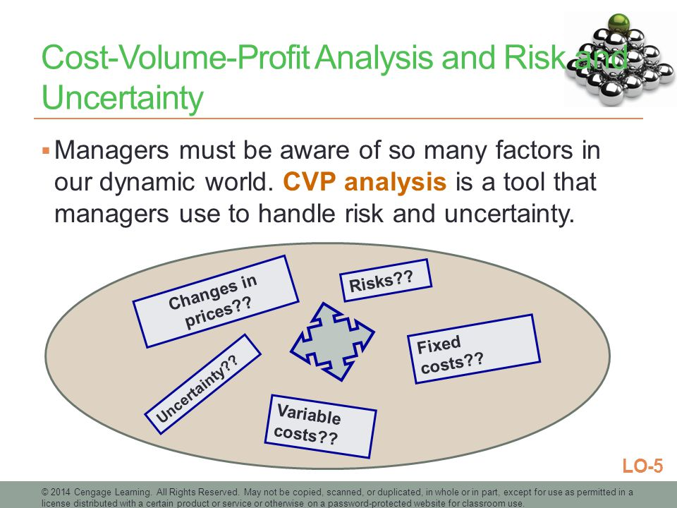 Cost-Volume-Profit Analysis and Risk and Uncertainty
