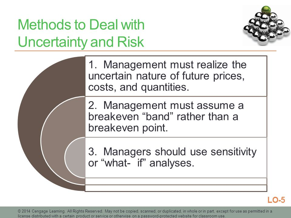 Methods to Deal with Uncertainty and Risk