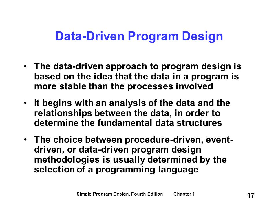 Data-Driven Program Design