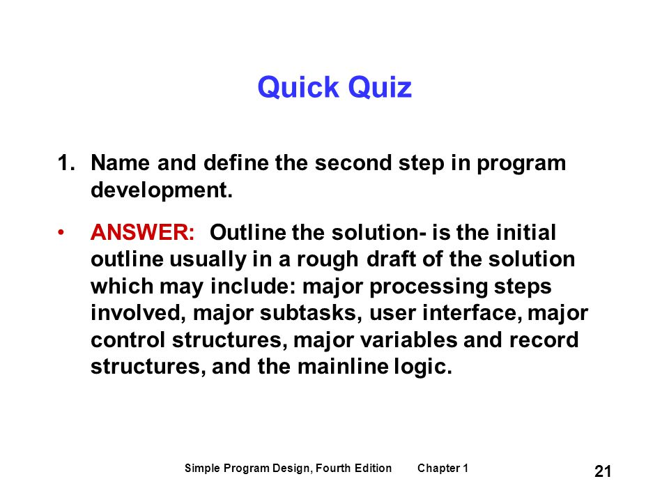 Simple Program Design, Fourth Edition Chapter 1