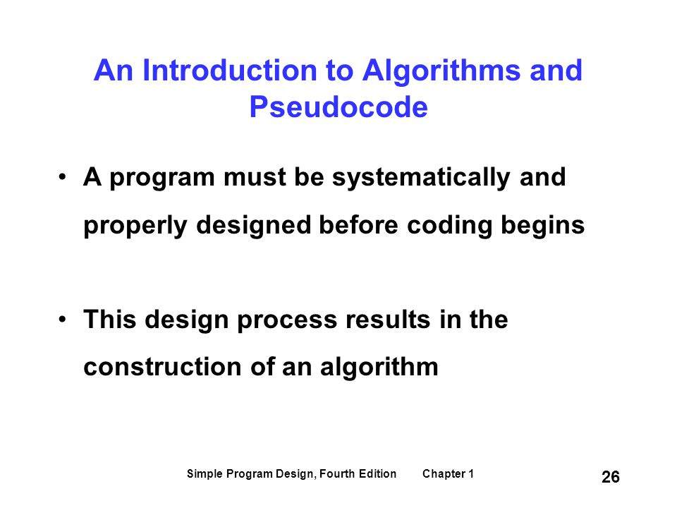 An Introduction to Algorithms and Pseudocode