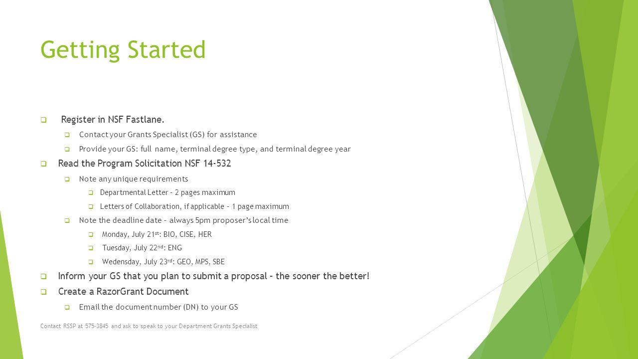 Solicitation Number NSF Proposal Preparation Tips - ppt
