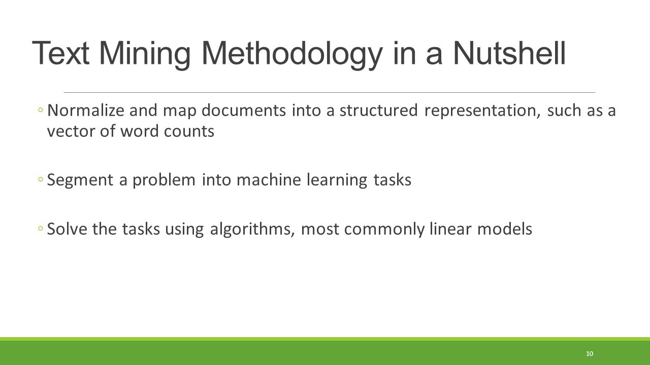 Text Mining Methodology in a Nutshell