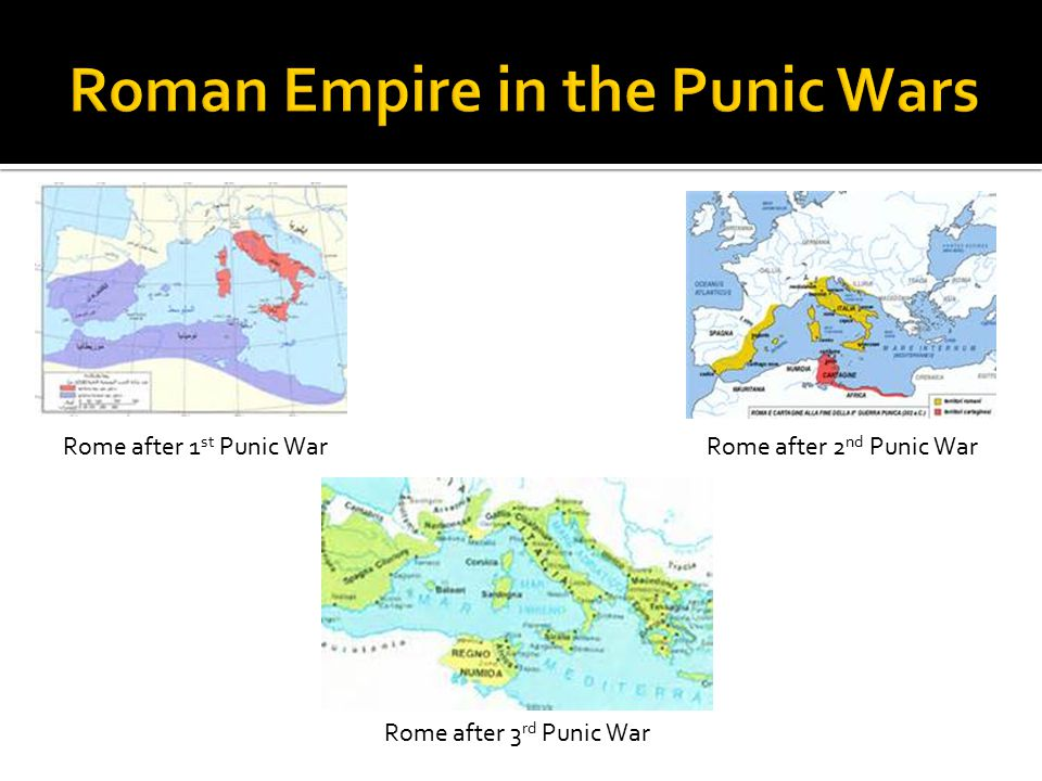 Roman Empire in the Punic Wars