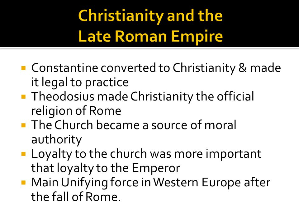 Christianity and the Late Roman Empire