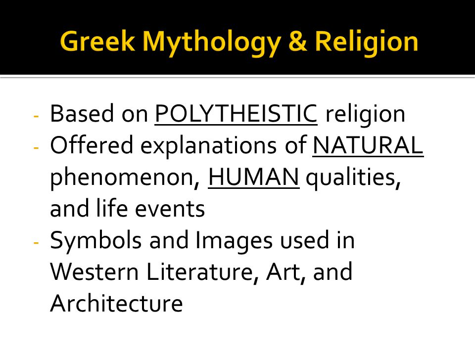 Greek Mythology & Religion