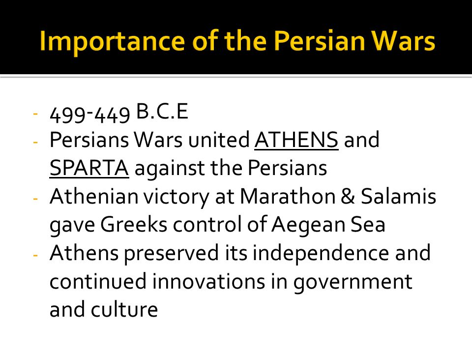 Importance of the Persian Wars