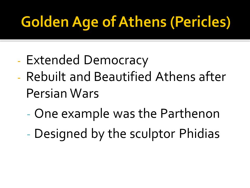 Golden Age of Athens (Pericles)