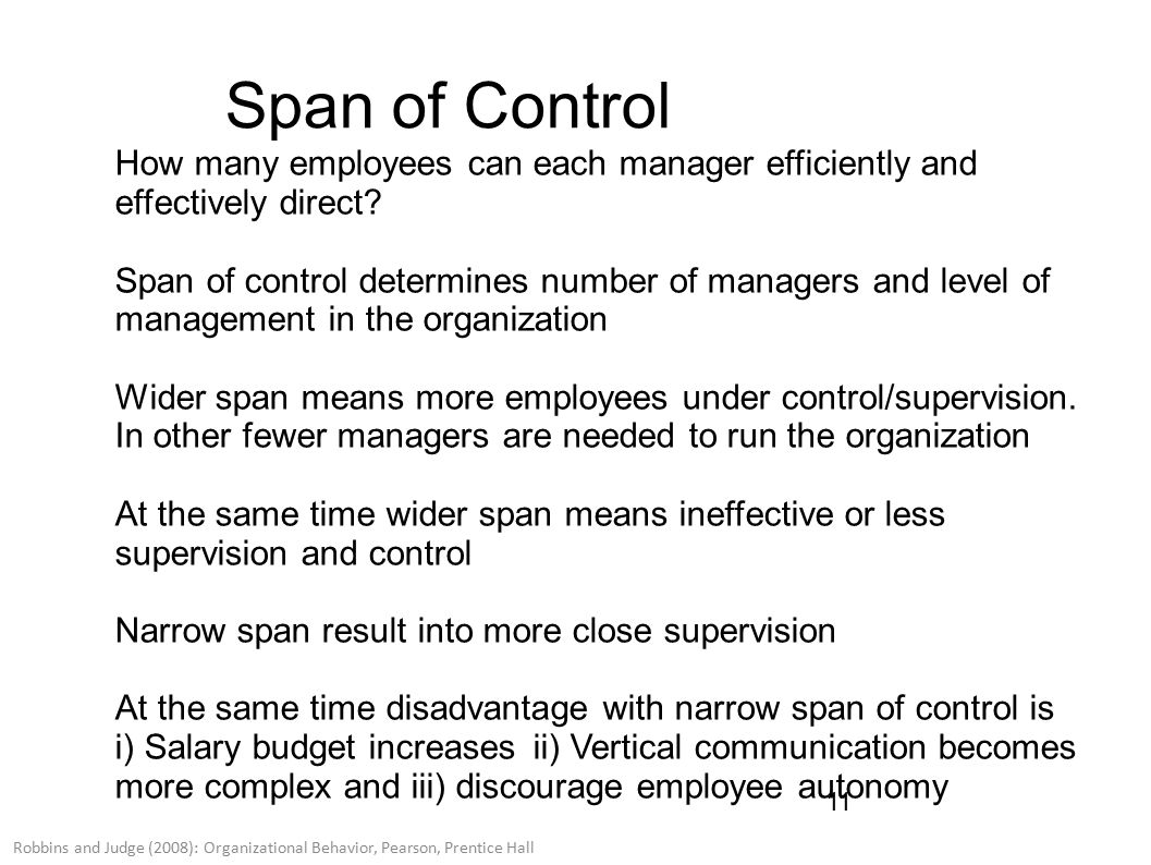 disadvantages of narrow span of control
