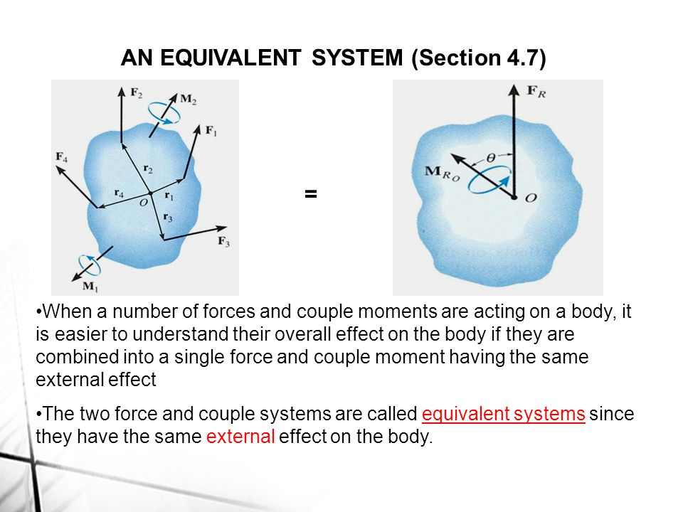 AN EQUIVALENT SYSTEM (Section 4.7)