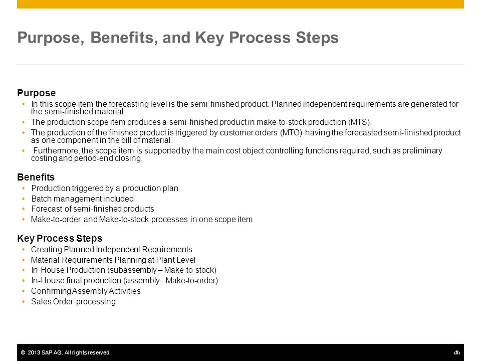 Planning and Processing of Semifinished Goods - ppt download