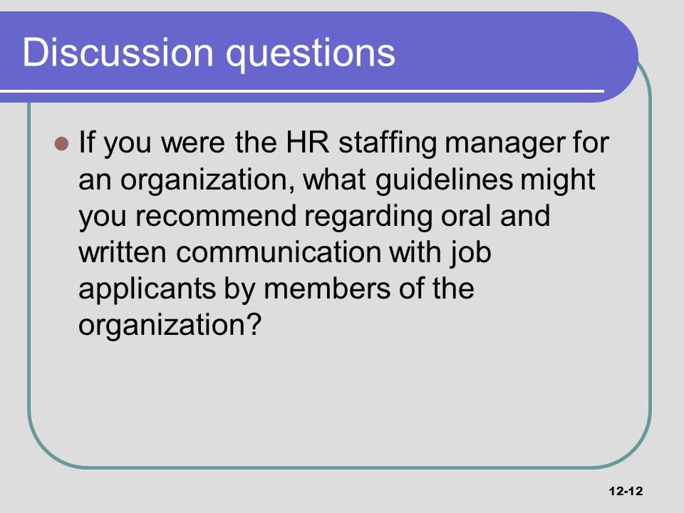 staffing manager job description - Eymir mouldings co