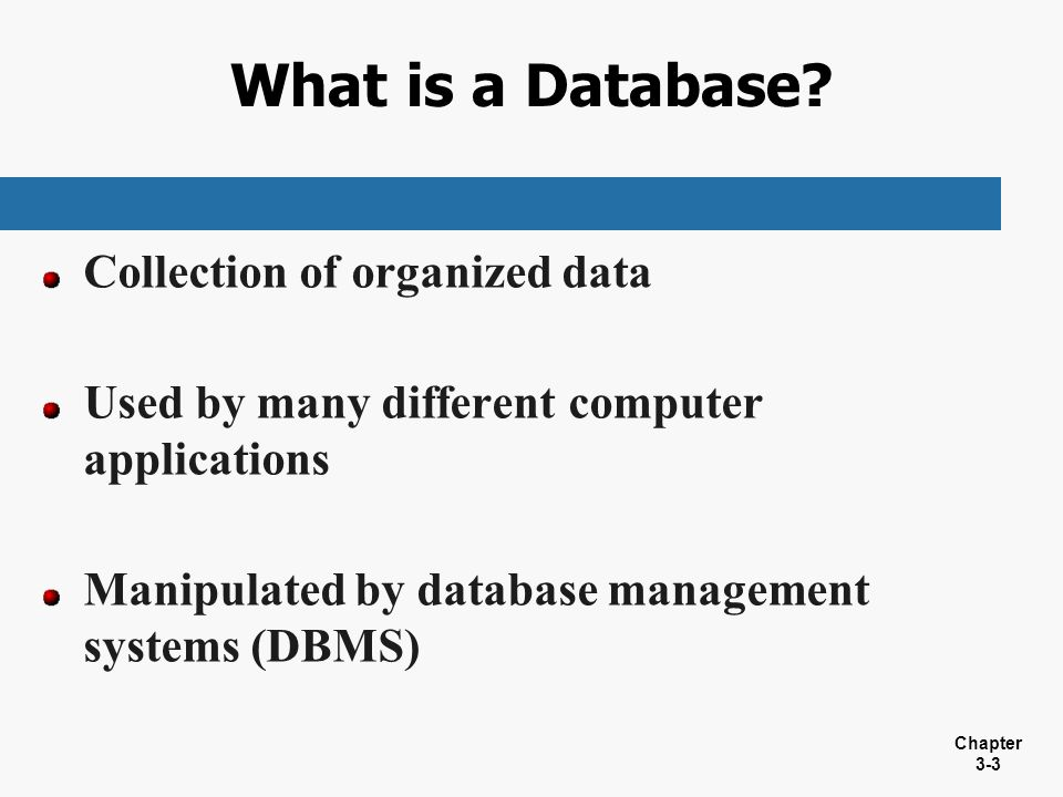 What is a Database Collection of organized data