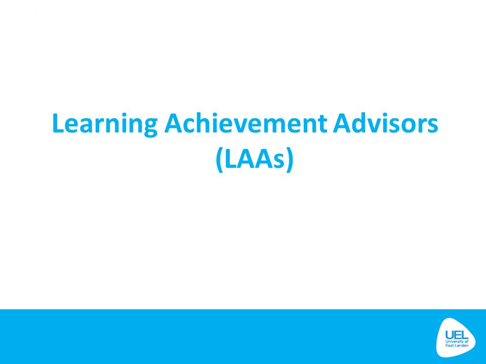 Learning Achievement Advisors (LAAs)
