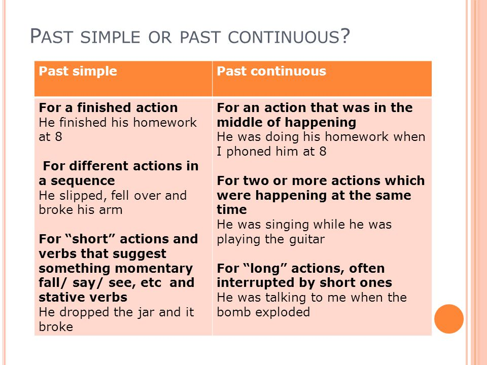 Past simple and Past continuous - ppt video online download