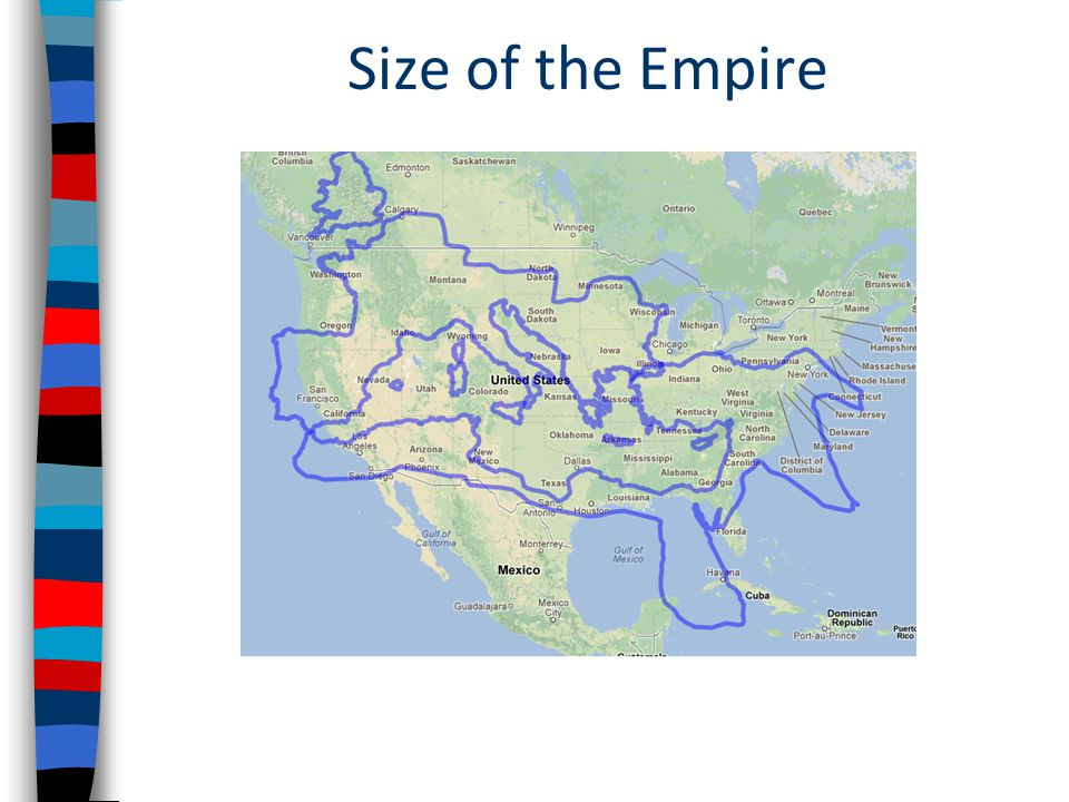 Size of the Empire