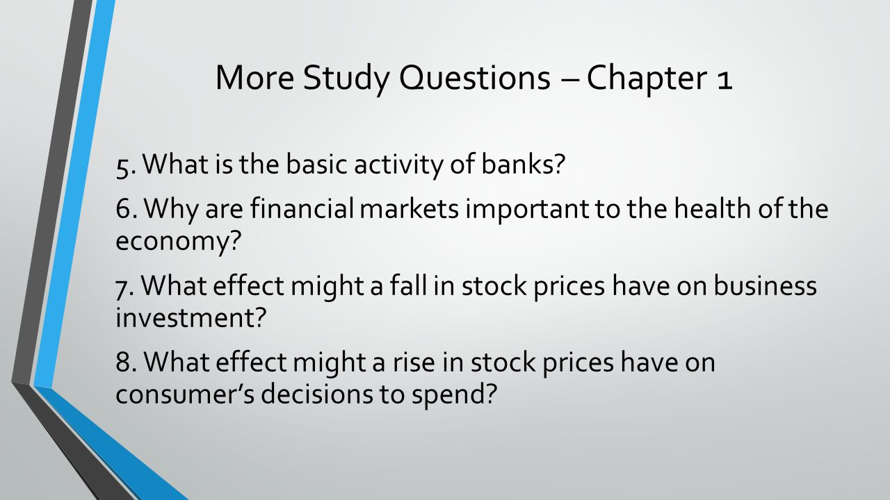 More Study Questions – Chapter 1