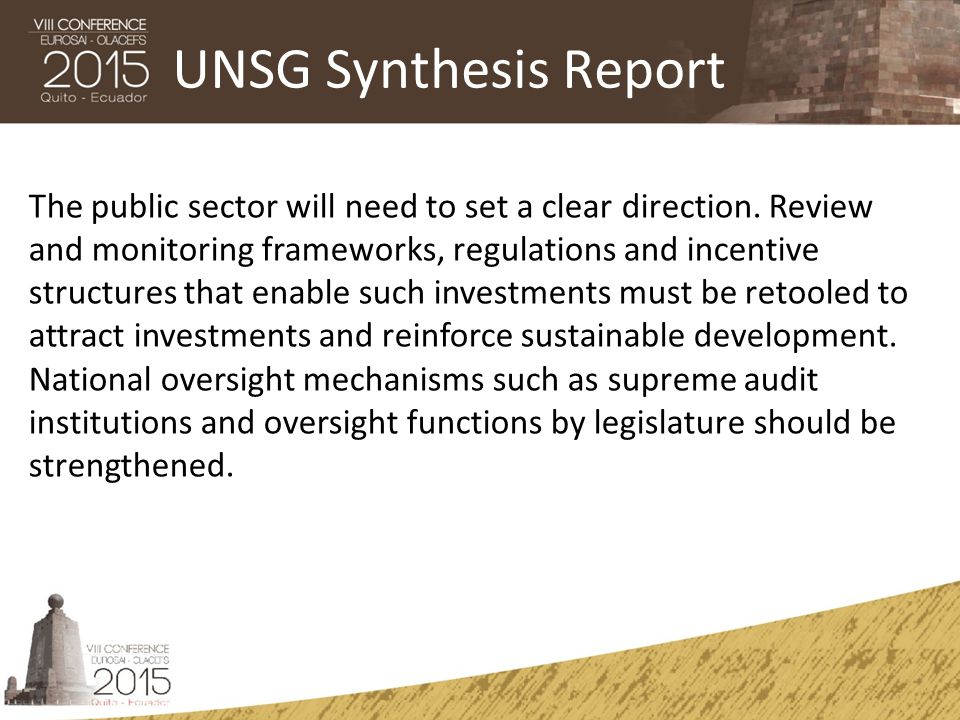 UNSG Synthesis Report